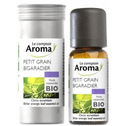 Petit Grain Bigaradier Huile Essentielle Bio 10 ml Comptoir Aroma