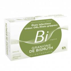 Granions de Bismuth 10 ampoules