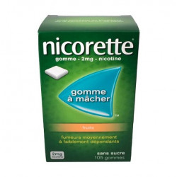 Nicorette 2 mg gommes à mâcher aux fruits