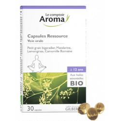 Capsules Ressource aux huiles essentielles bio Comptoir Aroma