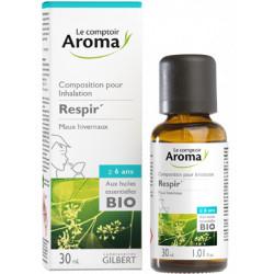 Composition pour inhalation Respir aux huiles essentielles