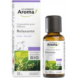Relaxante  Composition pour diffusion  aux huiles essentielles Bio Comptoir Aroma