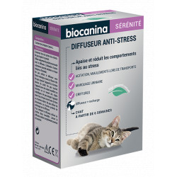 Diffuseur Anti-Stress pour chat + recharge 45 ml Biocanina