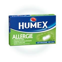 Humex Allergie Cetirizine 10mg comprimé sécable