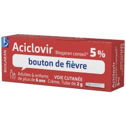 Aciclovir Biogaran Conseil 5% crème tube 2 g