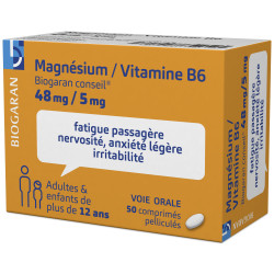 Magnésium Vitamine B6 Biogaran comprimés