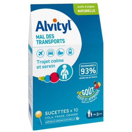 Alvityl Mal des transports sucettes