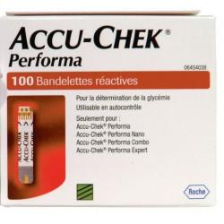 Accu Chek 100 bandelettes réactives