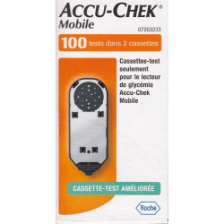 Accu Chek mobile 100 tests dans 2 cassettes
