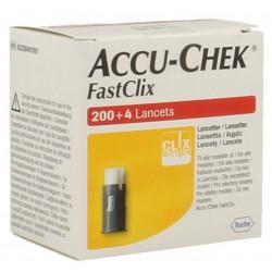 Accu Chek Fastclix 204 lancettes