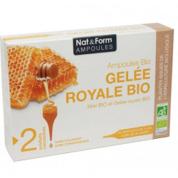 Gelée royale Bio 1500 mg 20 ampoules Nat&form