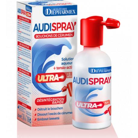 AUDISPRAY Ultra Bouchons de cerumen Spray 20 ml