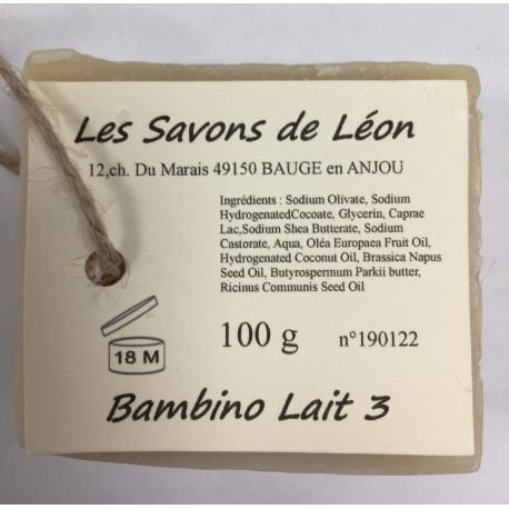 Savon artisanal Bambino Lait Les savons de Léon