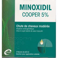 Minoxidil 5% Cooper 3  flacons de 60 ml