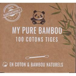 coton- tige Bambou par 100