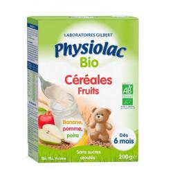 Physiolac Céréales Fruits Bio 200g
