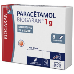 Paracetamol 1g 8 comprimés