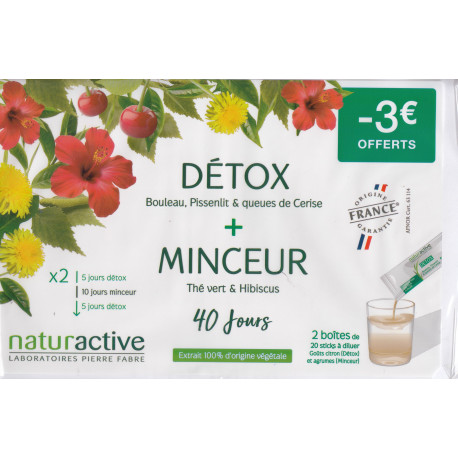 DETOX + MINCEUR sticks Naturactive