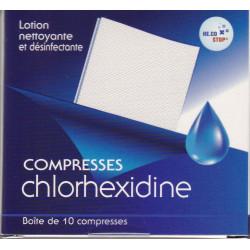 Compresses Chlorhexidine  désinfectantes