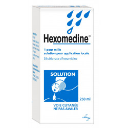 Hexomedine 1 pour mille Solution 250 ml