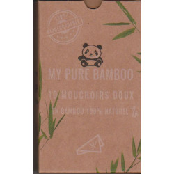 Mouchoirs Pochette de 10 My Pure Bamboo