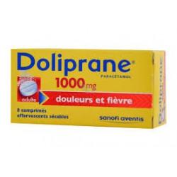 Doliprane 1000 mg 8 comprimes effervescents