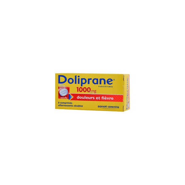 Doliprane 100 mg comprimés effervescents au paracetamol