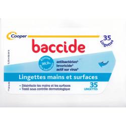 Lingettes mains et surfaces Baccide par 35
