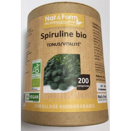 Spiruline Bio comprimés Nat&Form