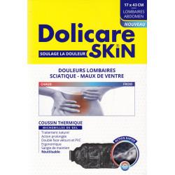 Coussin thermique microbilles de gel 43x17 cm lombaire et abdomen Dolicare Skin