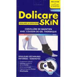 Chevillère de maintien avec coussin de gel thermique Dolicare Skin