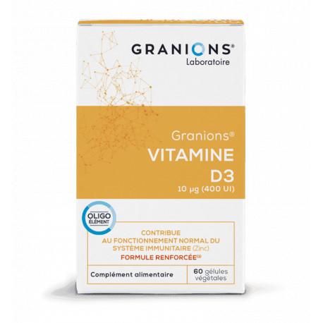 Granions Vitamine D3 végétale 60 gélules