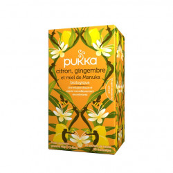 Citron, gingembre et miel de Manuka Tisane Bio Pukka