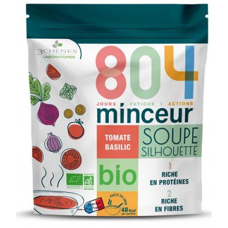804 minceur soupe silhouette bio Tomate Basilic Les 3 chênes