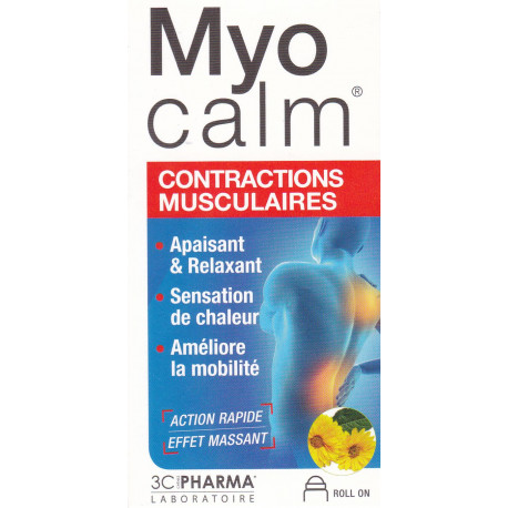 Myocalm Roll on contractions musculaires 3CPharma