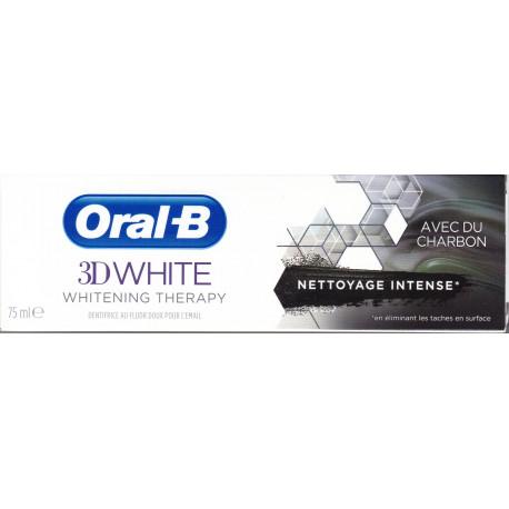 Oral B 3D white avec du charbon 75 ml