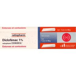 Diclofenac Ratiopharm 1% gel 50g