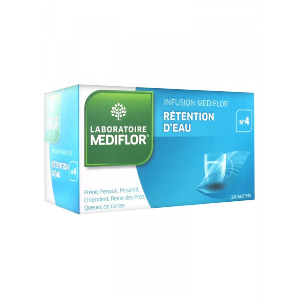 Mediflor 4 tisane Retention d'eau 24 sachets