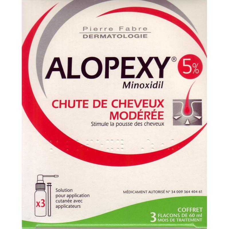 alopexy minoxidil 5 3 flacons de 60 ml chute de cheveux. Black Bedroom Furniture Sets. Home Design Ideas