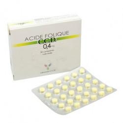 Acide Folique C.C.D. 0,4 mg 30 ou 90 comprimés