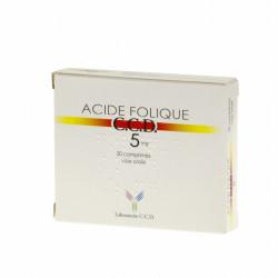 Acide Folique C.C.D. 5 mg 20 comprimés