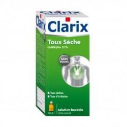 Clarix Sirop toux sèche sans sucre 250 ml