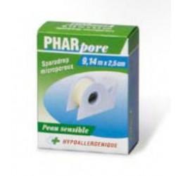 Sparadrap microporeux Pharpore 2.5cm x 9.14m