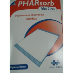 Pansements absorbants stériles en sachets  PHARSORB