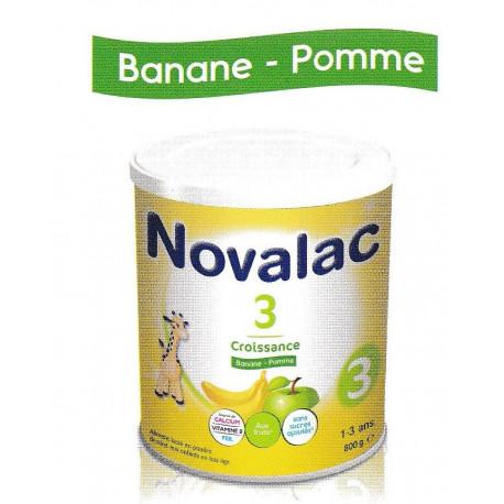 Novalac 3 Lait de croissance Banane- Pomme 800g