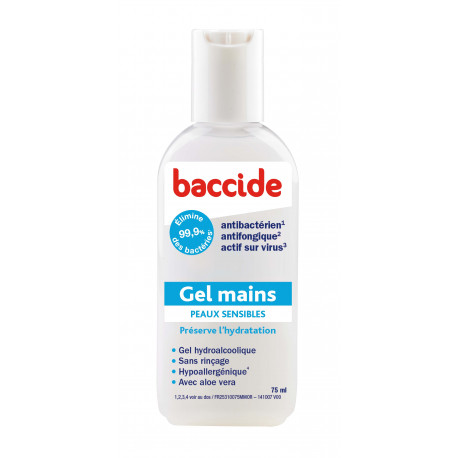 Desinfectant Main Baccide Gel Hydroalcoolique Mains Au Parfum
