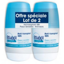Etiaxil Anti-transpirant 48 h peaux sensibles lot de 2 x 50 ml