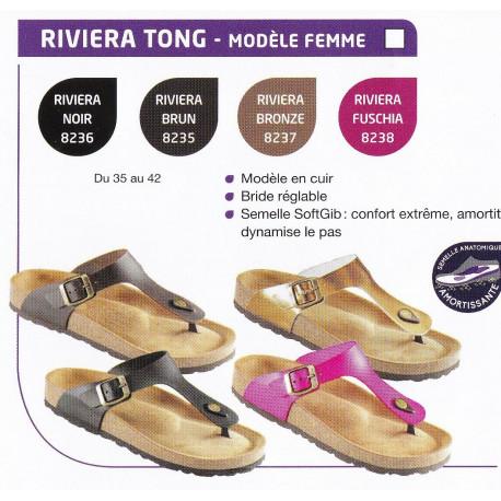 2fef6a13449e14 Tong chaussures de confort en cuir Podoactiv' Gibaud