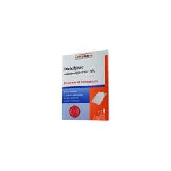 Diclofenac Ratiopharm 1% 5 emplatres medicamenteux