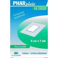 Pansements adhésifs stériles boite de 10  PHARplaie
